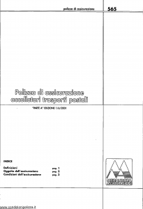 Meie Aurora - Polizza Assicurazione Accollatari Trasporti Postali - Modello u0565a Edizione 01-06-2001 [SCAN] [6P]