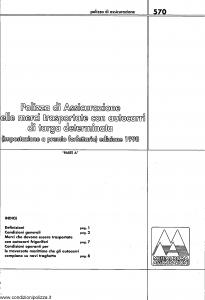 Meie Aurora - Polizza Assicurazione Merci Trasportate Con Autocarri Di Targa Determinata - Modello u0570a Edizione 1998 [SCAN] [10P]