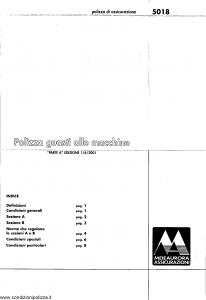 Meie Aurora - Polizza Guasti Alle Macchine - Modello u5018a Edizione 01-06-2001 [SCAN] [10P]