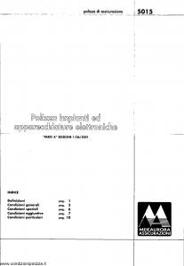 Meie Aurora - Polizza Impianti Ed Apparecchiature Elettroniche - Modello u5015a Edizione 01-06-2001 [SCAN] [14P]