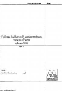 Meie Aurora - Polizza Italiana Assicurazione Mostre Arte - Modello u0564a Edizione 1998 [SCAN] [6P]