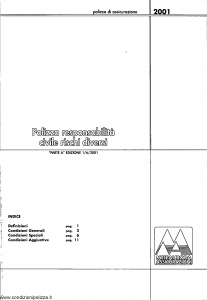 Meie Aurora - Polizza Responsabilita' Civile Rischi Diversi - Modello u2001a Edizione 01-06-2001 [SCAN] [14P]