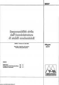 Meie Aurora - Responsabilita' Civile Amministratore Stabili Condominiali - Modello u2319c Edizione 01-06-2001 [SCAN] [4P]