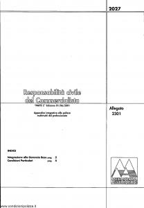 Meie Aurora - Responsabilita' Civile Del Commercialista - Modello u2301c Edizione 01-06-2001 [SCAN] [4P]
