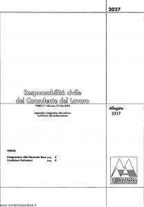 Meie Aurora - Responsabilita' Civile Del Consulente Del Lavoro - Modello u2317c Edizione 01-06-2001 [SCAN] [4P]