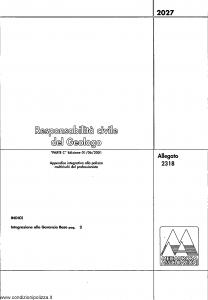 Meie Aurora - Responsabilita' Civile Del Geologo - Modello u2318c Edizione 01-06-2001 [SCAN] [4P]