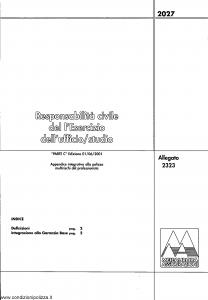 Meie Aurora - Responsabilita' Civile Del L'Esercizio Dell'Ufficio Studio - Modello u2323c Edizione 01-06-2001 [SCAN] [4P]