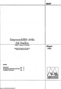 Meie Aurora - Responsabilita' Civile Del Medico - Modello u2302c Edizione 01-06-2001 [SCAN] [4P]