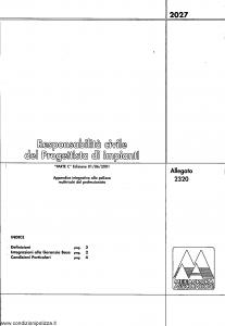 Meie Aurora - Responsabilita' Civile Del Progettista Di Impianti - Modello u2302c Edizione 01-06-2001 [SCAN] [6P]
