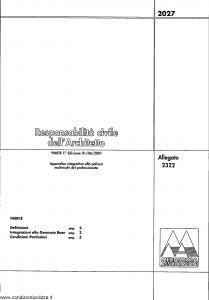 Meie Aurora - Responsabilita' Civile Dell'Architetto - Modello u2322c Edizione 01-06-2001 [SCAN] [6P]