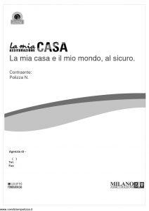 Milano Assicurazioni - La Mia Assicurazione Casa La Mia Casa E Il Mio Mondo Al Sicuro - Modello 11266 Edizione 09-2007 [82P]