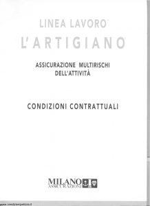 Milano Assicurazioni - Linea Lavoro L'Artigiano Multirischi Dell'Attivita' - Modello nd Edizione 11-1993 [SCAN] [16P]