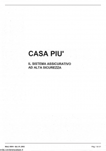 Milano - Casa Piu' - Modello 6984 Edizione 01-2002 [31P]