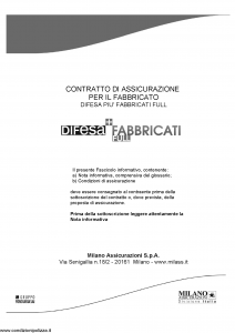 Milano - Difesa Piu' Fabbricati Full - Modello 11499 Edizione 07-2011 [56P]
