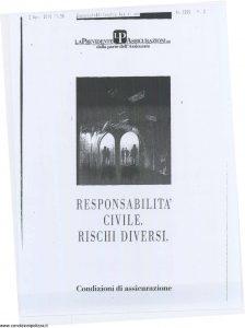 Milano La Previdente - Responsabilita' Civile Rischi Diversi - Modello nd Edizione nd [SCAN] [9P]