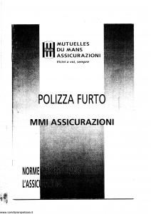 Mutuelles Du Mans - Polizza Furto - Modello 081st Edizione nd [SCAN] [40P]