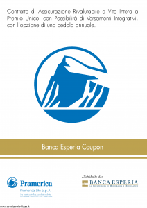 Pramerica - Banca Esperia Coupon - Modello bec Edizione 05-2013 [36P]
