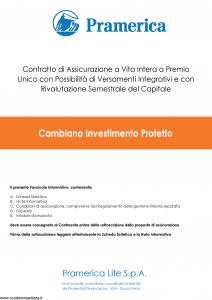 Pramerica - Cambiano Investimento Protetto - Modello cip Edizione 01-2018 [47P]