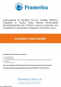 Pramerica - Cambiano Valore Rendita Versione 1 - Modello cvr Edizione 05-2018 [53P]