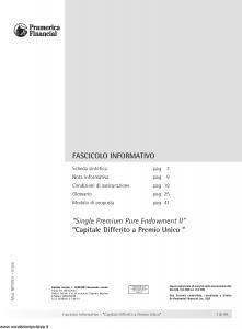 Pramerica - Capitale Differito A Premio Unico - Modello nipures Edizione 01-2006 [40P]