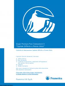 Pramerica - Capitale Differito A Premio Unico - Modello nipures Edizione 04-2009 [46P]