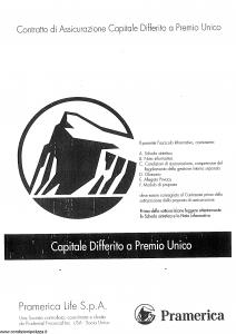 Pramerica - Capitale Differito A Premio Unico - Modello nipures Edizione 04-2010 [SCAN] [58P]