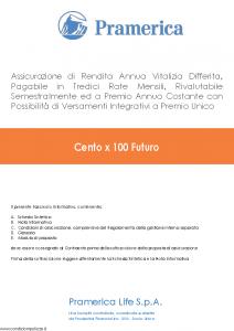 Pramerica - Cento X 100 Futuro - Modello cxcf Edizione 02-2014 [60P]