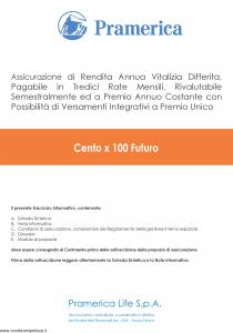 Pramerica - Cento X 100 Futuro - Modello cxcf Edizione 04-2014 [60P]