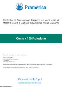 Pramerica - Cento X 100 Protezione - Modello cxc Edizione 05-2014 [42P]
