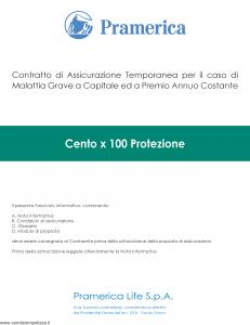 Pramerica - Cento X 100 Protezione - Modello cxc Edizione 10-2013 [42P]