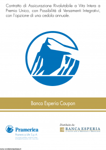 Pramerica - Banca Esperia Coupon - Modello bec Edizione 10-2012 [42P]