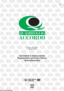 Quadrifoglio - Accordo - Modello s70285-moass0028 Edizione 04-2002 [12P]