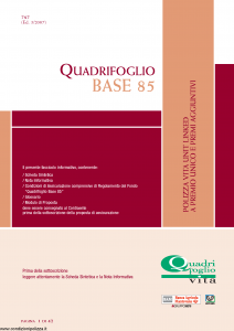 Quadrifoglio - Base 85 - Modello s70374-moass0088 Edizione 03-2007 [40P]