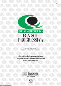 Quadrifoglio - Base Progressiva - Modello s70338-moass0065 Edizione 03-2004 [20P]