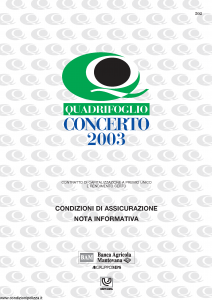 Quadrifoglio - Concerto 2003 - Modello s70322-moass0050 Edizione 04-2003 [8P]