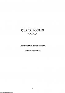 Quadrifoglio - Coro - Modello nd Edizione nd [24P]