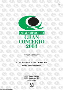 QuaQuadrifoglio - Gran Concerto - Modello s70310-moass0013 Edizione 10-2002 [12P]drifoglio - Gran Concerto 2003 - Modello s70314-moass0013a Edizione 02-2003 [8P]