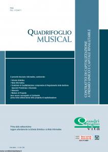 Quadrifoglio - Musical - Modello s70380-moass0096 Edizione 03-2007 [24P]