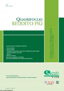 Quadrifoglio - Reddito Piu' - Modello s70384-moass0099 Edizione 03-2006 [28P]