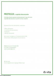 Rb Vita - Protegge A Capitale Decrescente - Modello 8013 Edizione 05-2012 [32P]