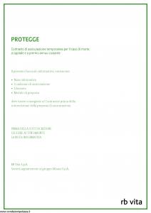 Rb Vita - Protegge - Modello 8012 Edizione 12-2010 [36P]