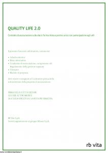 Rb Vita - Quality Life 2.0 - Modello 8006 Edizione 05-2012 [40P]