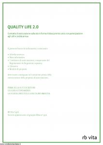 Rb Vita - Quality Life 2.0 - Modello 8008 Edizione 05-2012 [44P]
