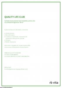 Rb Vita - Quality Life Club - Modello 7340 Edizione 03-2008 [46P]