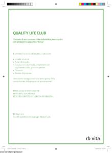 Rb Vita - Quality Life Club - Modello 7340 Edizione 03-2009 [40P]