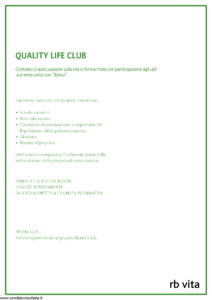 Rb Vita - Quality Life Club - Modello 8007 Edizione 05-2011 [44P]