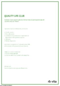 Rb Vita - Quality Life Club - Modello 8007 Edizione 12-2010 [44P]
