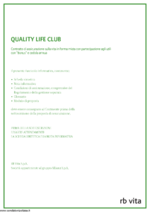 Rb Vita - Quality Life Club - Modello 8008 Edizione 05-2011 [48P]