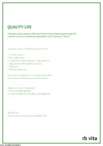 Rb Vita - Quality Life - Modello 8006 Edizione 12-2010 [48P]