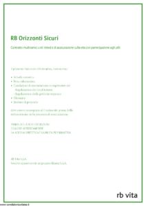 Rb Vita - Rb Orizzonti Sicuri - Modello 8027 Edizione 02-2012 [65P]